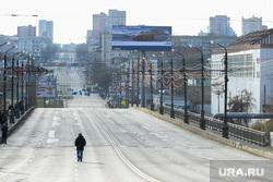 Крестный ход в Челябинске, пешеход, утро, движение перекрыто, улица, город, свердловский проспект, дорога, пустынно, человек идет