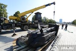 Памятник Столыпину перед установкой на постамент. Челябинск, скульптура, памятник столыпину