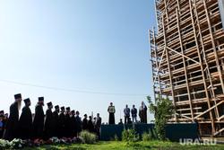 Визит Патриарха Кирилла  в село Батурино. Курганская область, священники, православие, патриарх