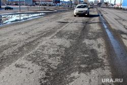 Городские разбитые дороги.  Курган