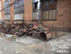 Чебаркульский крановый завод. Разрушенный цех. Челябинская область., металлолом