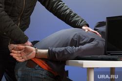 Клипарт депозитфото, допрос, наручники, задержание
