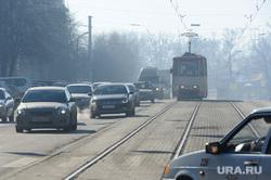 Экология. Выбросы. Дым. Челябинск., автомобили, трамвай, воздух, атмосфера
