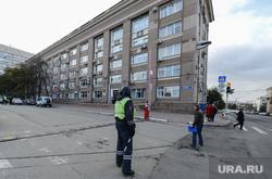 Минирование и эвакуация правительственных зданий. Челябинск, эвакуация, челябинская городская администрация, полиция, оцепление