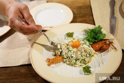 Дегустация традиционной русской кухни поваром филиппинцем. Екатеринбург, салат, оливье, еда