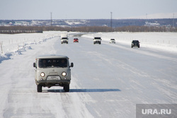 Ледовая переправа Салехард - Лабытнанги. 13 апреля 2017 г, север, зимняя дорога, зима, ледовая переправа