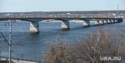 Пермь. Клипарт., автодорожный мост, река кама