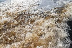 Заплыв Фалька Тишендорфа  через Обь в рамках акции «Переплывая Россию». Салехард, река, вода, потоп, течение