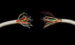Клипарт depositphotos.com, ток, электросети, электрика, разорванные провода