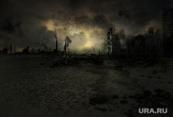 Работа руками, айфон 8, скорая помощь, солнце, конец света, разрушения, катастрофы, разрушенные города