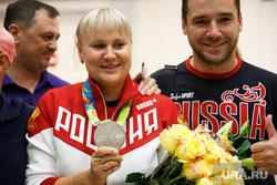 Встреча олимпийцев в аэропорту Кольцово. Екатеринбург, медаль, серебро, олимпиада рио 2016, перова ксения