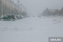 Город в снегу. Курган, площадь ленина, снегопад, ветер, пурга, снег в городе