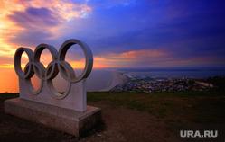 Открытая лицензия от 27.07.2016 . Олимпиада, мерседес , олимпийские кольца, закат, олимпиада