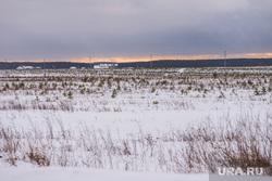 Место сжигания таблеток в пос. Совхозный, поле, снег