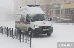 Метель. Салехард, зима, скорая помощь, метель, снег