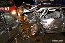 Ночная авария Курган, разбитые машины, дтп, авария