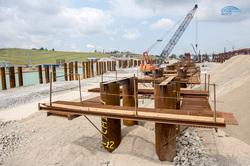 Строительство Керченского моста, кран, песок, крымский мост, строительство моста