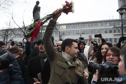 Сход на Лермонтовской площади. Москва, яшин илья, цветы