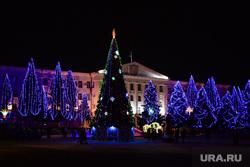Новогодняя площадь 2017. Курган, елка на площади, новый год, площадь курган, новогоднее оформление, гирлянды