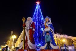 Новогодняя площадь 2017. Курган, елка на площади, новогодняя елка, дед мороз и снегурочка, новогоднее оформление