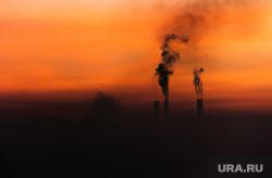 Вечерний Магнитогорск, трубы дымят, утро, тэц, смог, магнитогорск, экология