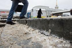 Оттепель в Екатеринбурге, ступени, грязь, грязный город