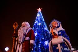 Новогодняя площадь 2017. Курган, новогодняя елка, дед мороз и снегурочка, новогоднее оформление, елка на площади