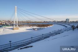 Зима. Тюмень, мост влюбленных