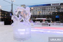 Ледовый городок на площади Революции. Челябинск, ледовый городок, 2018
