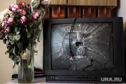 Клипарт, телевизор, долги, ревность, бытовуха, разгром, ссора, засохший букет, увядший, разбитый экран