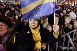 Евромайдан. Киев, евросоюз, флаг