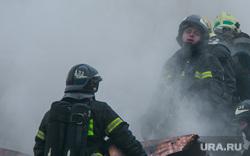 Пожар в Пушкинском музее. Москва, пожарные, тушение пожара