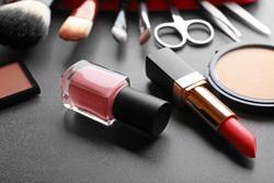 Клипарт depositphotos.com, косметика, помада, лак для ногтей