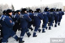 Полиция. Челябинск., марш, строй, дпс