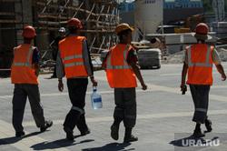 Реконструкция Центрального стадиона. Екатеринбург, гастрабайтеры, строители, мигранты, рабочие, разнорабочие, гастарбайтеры