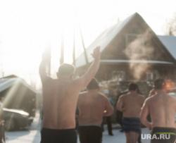 Заплыв моржей. Екатеринбург, зима, здоровый образ жизни, закаливание, зимний отдых, татуировки, моржи