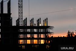 Стройка. Челябинск, жилье, новостройка, стройка, строитель, закат