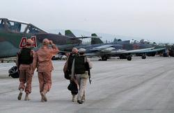 Российские самолеты на авиабазе Хмеймим Сирия., летчики, истребитель, Сирия, хмеймим