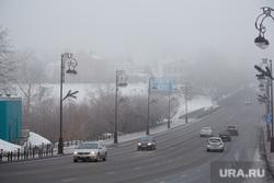 Туман. Тюмень, туман, проезжая часть, авто, дорога