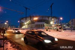 Виды Екатеринбурга, реконструкция, развязка, дорога, центральный стадион, ночь, ночной город