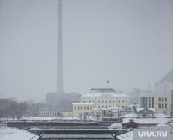 Клипарт. Екатеринбург, телебашня, река исеть