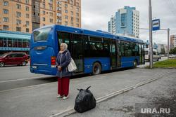 Остановочные павильоны. Сургут, автобус, остановка общественного транспорта, пассажиры в ожидании, бахилова