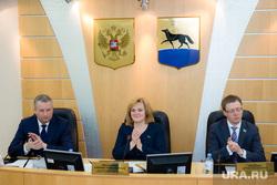 Заседание Думы города и брифинг депутатов. Сургут, красноярова надежда, кириленко артем, жердев алексей