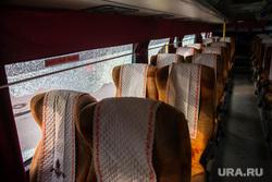 ДТП на Карла Либкнехта - Малышева с участием троллейбуса и междугороднего автобуса. Екатеринбург, салон автобуса
