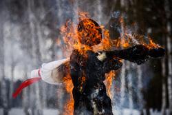 Масленица в Pine Creek Golf Resort. Екатеринбург, пламя, огонь, масленица, зимний гольф