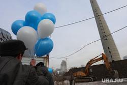 Митинг в против сноса недостроенной  телебашни. Екатеринбург