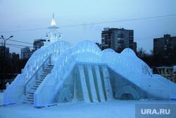 Ледовый городок. Пермь, ледовый городок, горка, лед