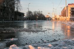 В городе масштабная коммунальная авария. Курган, коммунальная авария, улица карла маркса, потоп, прорыв водопровода, затопленные улицы