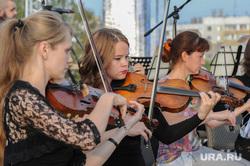 Оркестр на стройке храма Челябинск, скрипка, оркестр