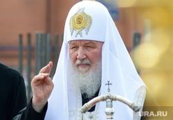 Патриарх Кирилл в Кургане на церемонии освящения закладного камня Троицкого храма, патриарх, патриарх кирилл, православие